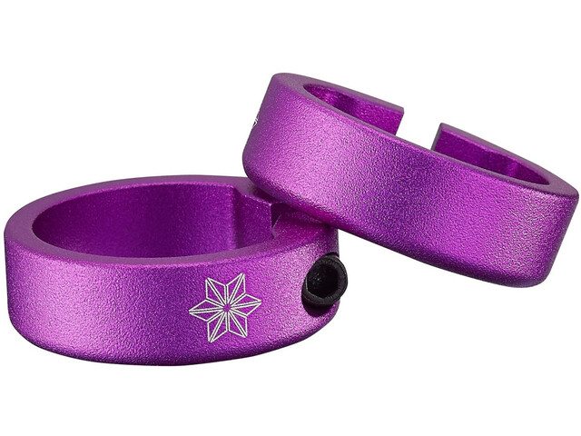 Supacaz Star Ringz Clamping Rings anodised, purple